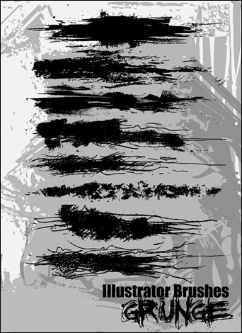 illustrator grunge fırça seti