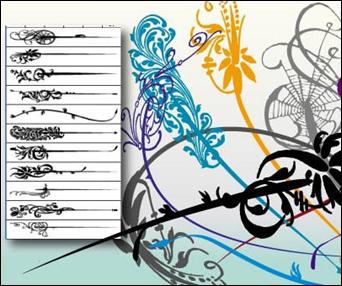 illustratorswirl fırça seti