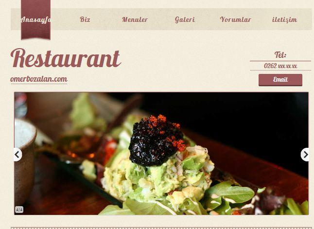 Hazır Restaurant Site Teması – 2
