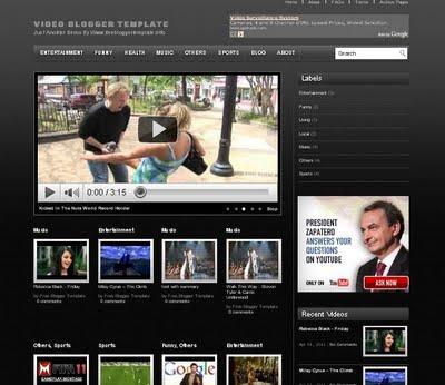 ücretsiz blogger video teması
