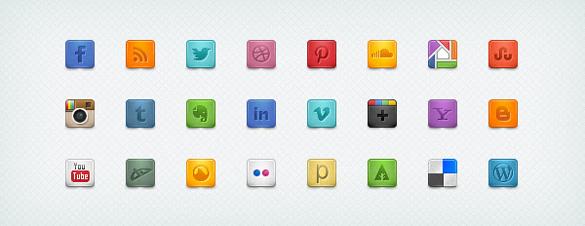 sosyal ağ butonları