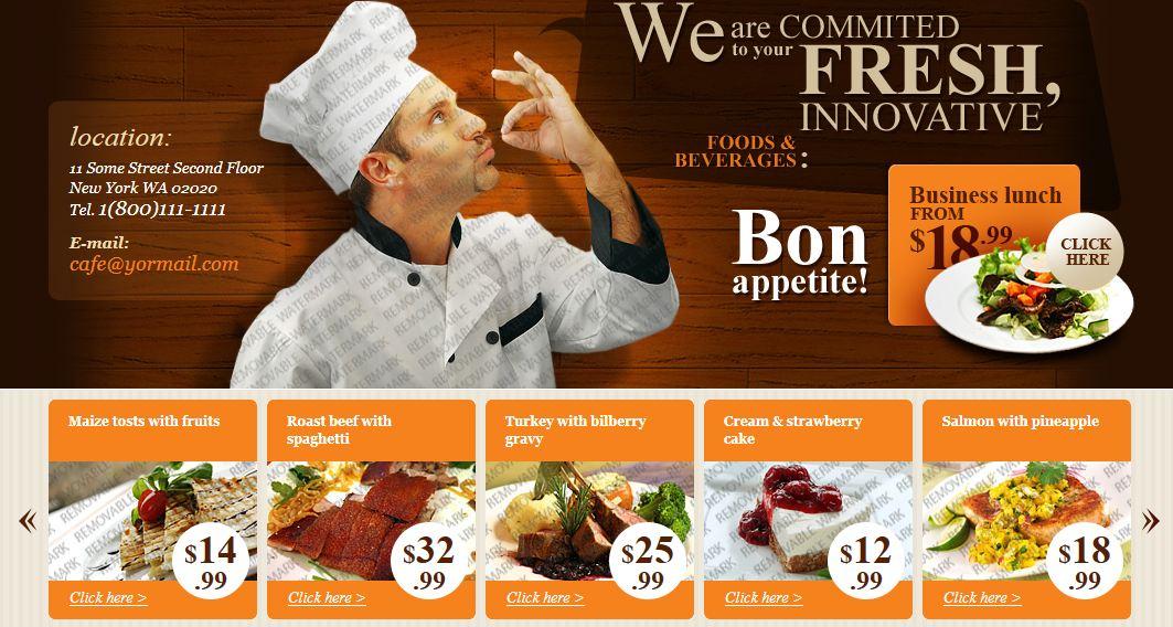 Hazır CSS Restaurant Site Örneği