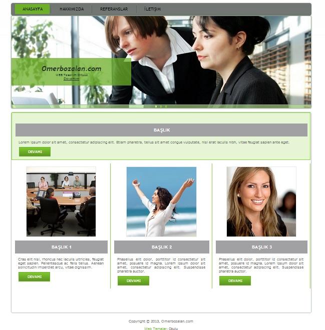 html5 ile hazırlanmış site