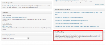 "WordPress ""RSS Hatası: A feed could not…"" Çözümü"