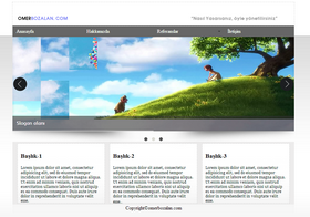 Ücretsiz Html, Css, Jquery, Slider'lı Web Tasarım Örneği-1