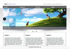 �cretsiz Html, Css, Jquery, Slider�l� Web Sayfa