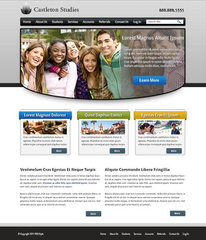 Örnek PSD Web Tasarım Şablonu -3