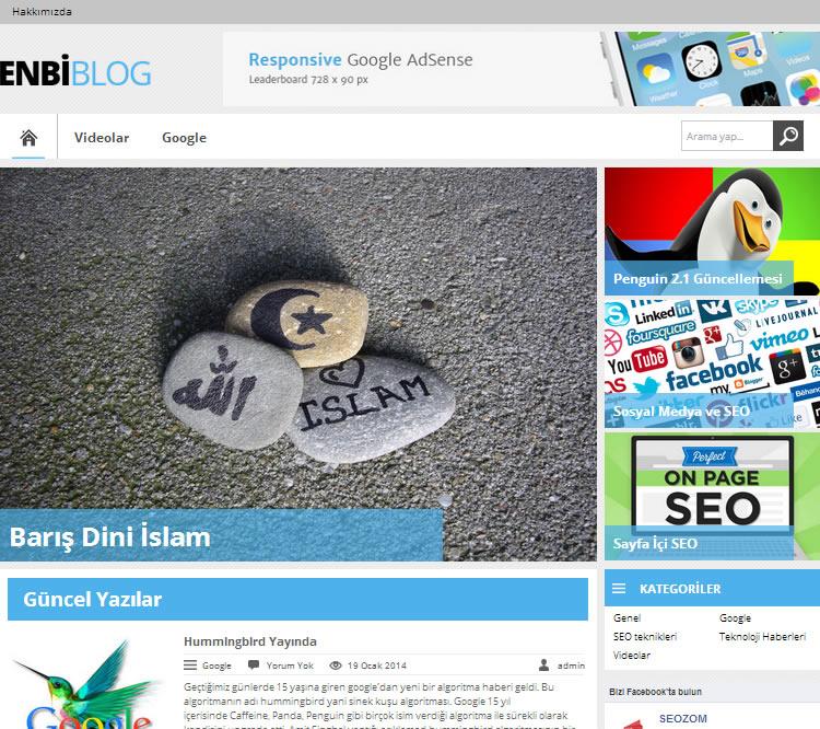 WordPress Ücretsiz EnBiBlog Teması