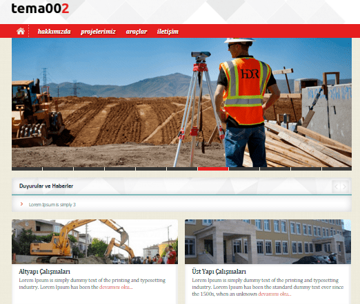 Kurumsal Site Tema | Hazır Css/Html Site – 5