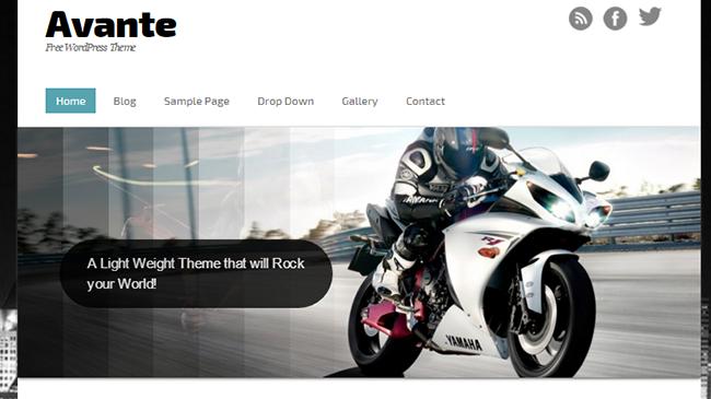 """Ücretsiz WordPress """"Avante2"""" Teması"""