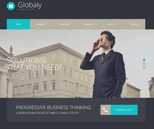 Ücretsiz WordPress Globaly Teması