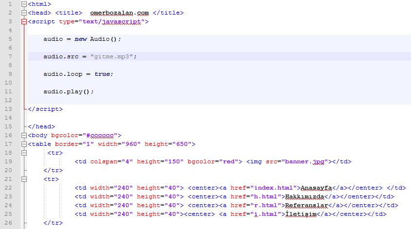 Sadece Not Defteri İle Web Site Yapımı – 2