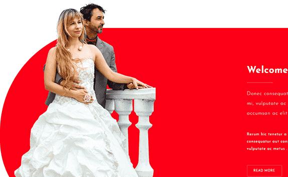 Haftanın Ücretsiz Responsive Düğün Teması#24